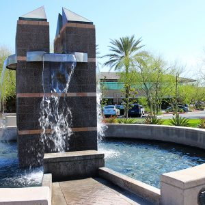 Hilltop Scottsdale 6909 and 6929 Office Building Fountain